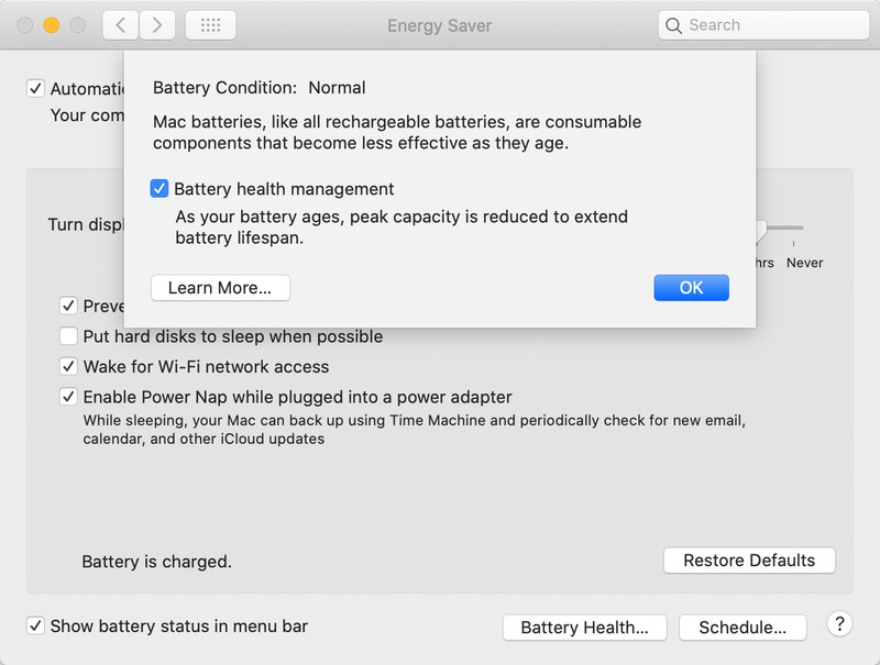 Apple macOS 10.15.5 Catalina Battery Health Management Feature MacBook
