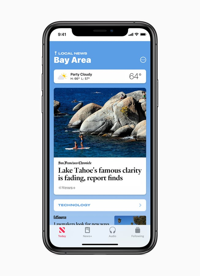 Apple News Curated Local News