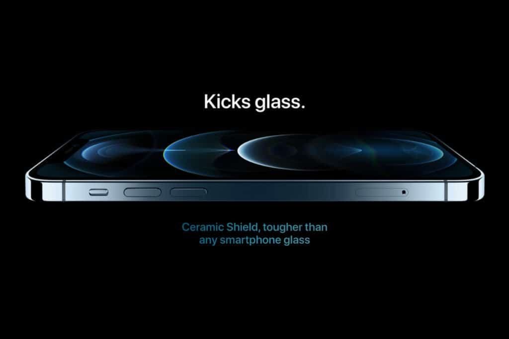 iPhone 12's Ceramic Shield display protection