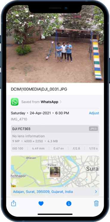 image details in iOS 15
