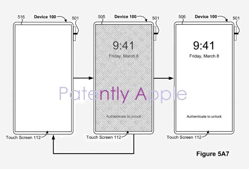 iPhone touch id power button patent