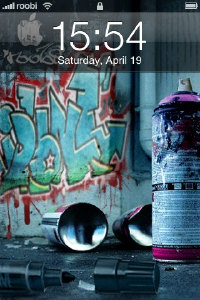 graffiti iphone theme lock-screen