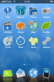 iPhone Theme simple_sky