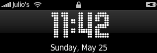 Gas iPhone\'s clock font