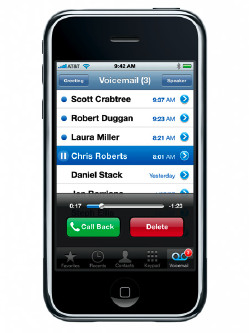 iPhone visual voicemail by Vodafone