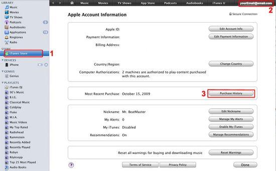 Appstore refund