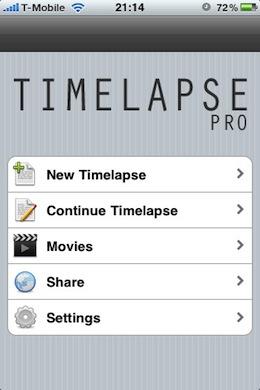 Timelapse Pro iPhone
