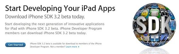 iPhone SDK 3.2 beta 2 iPad