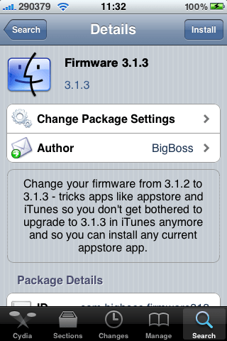 Firmware 3.1.3  from cydia