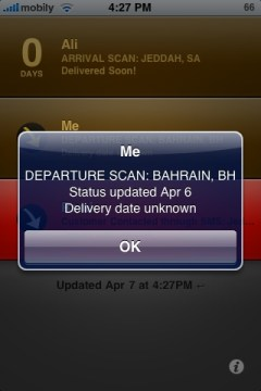 Delivery Status details