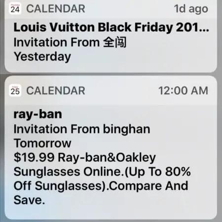 Ios Calendar Spam Notifications