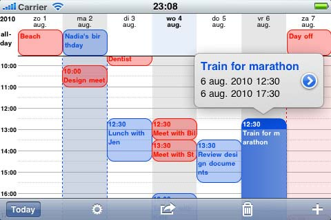Iphone week calendar foto 2
