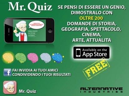 L'applicazione divertente dell'Estate Mr. Quiz