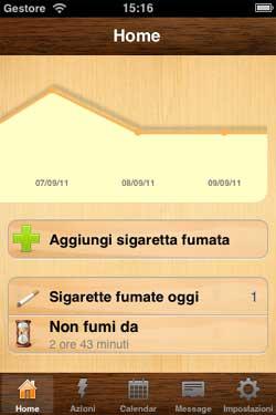 App per iPhone che aiuta a smettere di fumare