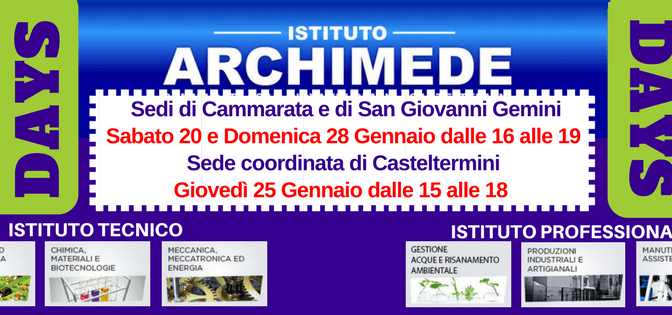 OPEN DAYs ALL'ARCHIMEDE