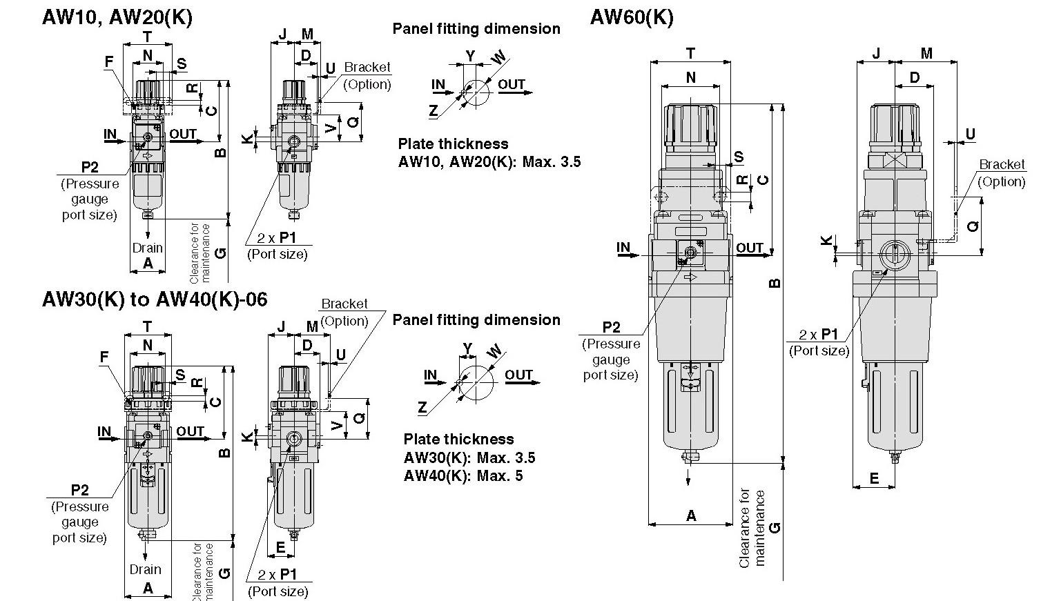 Smc Naw 1r Repair Kit Naw Rel Aw Filter Regulator