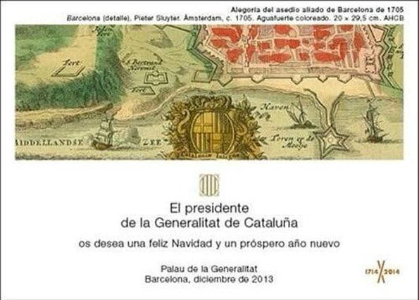Artur Mas polémica felicitacion de Navidad