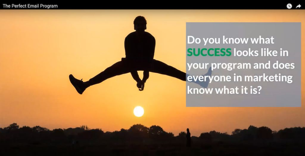 Do you know what success looks like in your email program