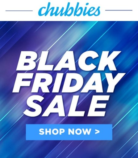 black friday email promotion chubbies