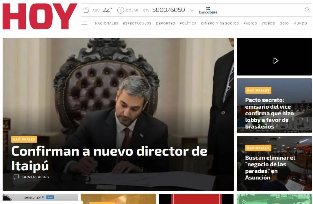 Diarios de paraguay hoy