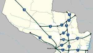 Mapa del paraguay por Departamentos y distritos