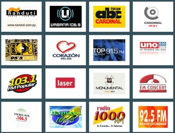 emisoras de radios online desde paraguay