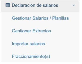 Sistema REI IPS manual del usuario declaración de salarios