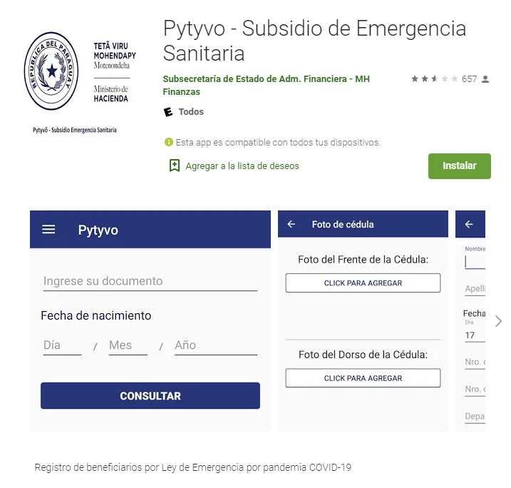 Cobros indebidos del subsidio económico Pytyvõ