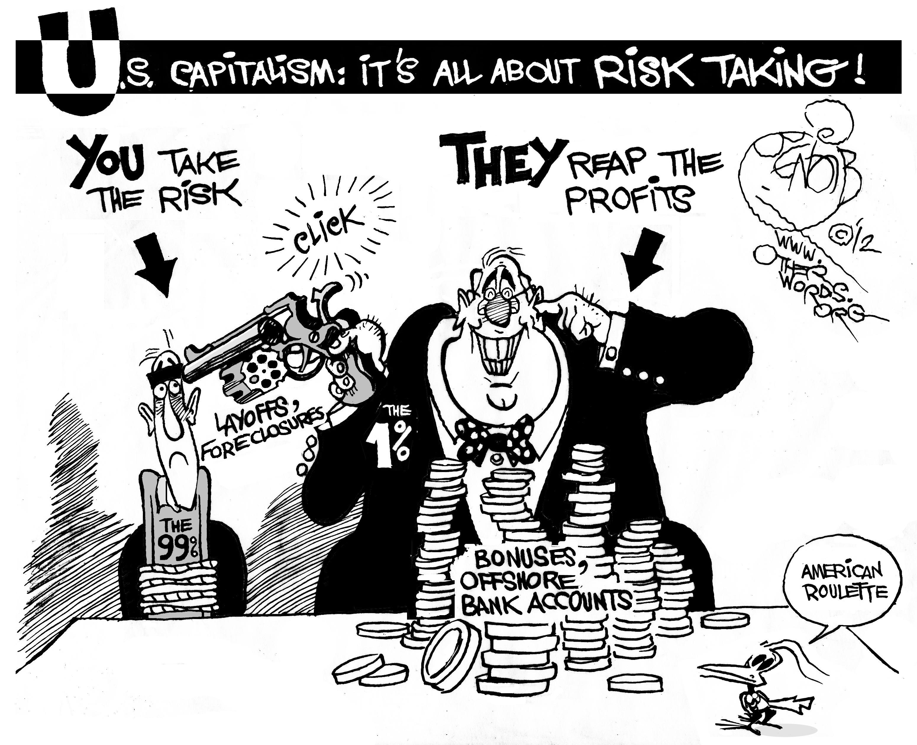 1% vs 99%, cartoon