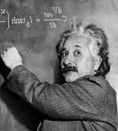 Einstein chalk board