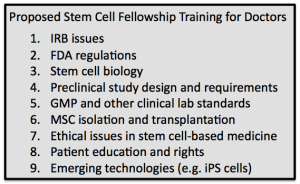 MD training in stem cells