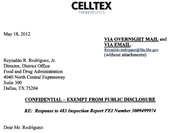 Celltex letter 3 top
