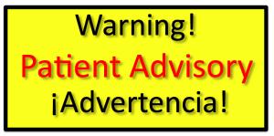warning patient advisory sign