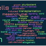 Stem Cell Word Cloud: Mesenchymal Dominates in 2015