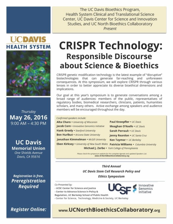 CRISPR Ethics Meeting Flyer