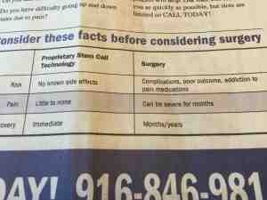 Nervana ad medical claim