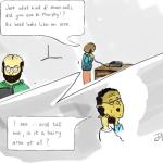 Stem cells run amok: Jill Howlin's satirical cartoon look