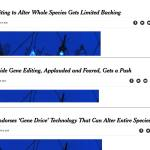 Shape Shifting NY Times Headline on Gene Drive Becomes More Positive