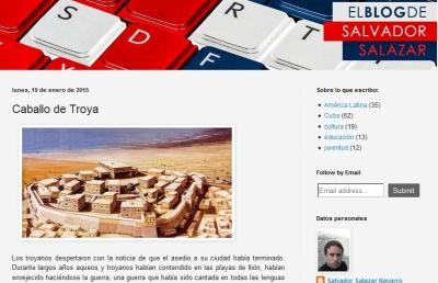 Desde su blog, Salvador Salazar comparte una visión muy personal sobre la realidad cubana. (Foto tomada del Blog de Salvador Salazar)