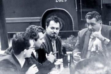 Pablo Armando Fernández junto a Fayad Jamis y Lezama Lima.