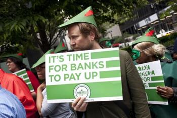 Robin Hood Protester