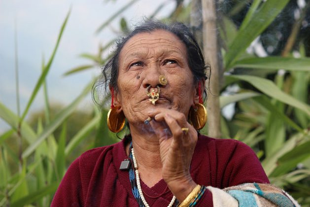 An ethnic matriarch in India's biodiversity-rich Sikkim State in the Himalayan foothills. She is a repository of traditional knowledge on plants both for food and medicinal properties. Credit: Manipadma Jena/IPS
