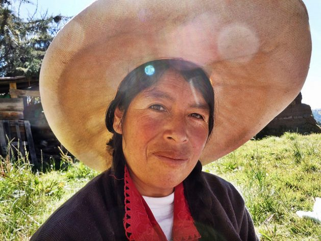 Celestina of Porcón Alto, a rural region high in the Andes, whose family has lived on the same plot of land for generations. Credit: Andrea Vale/IPS