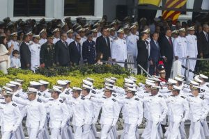 Jair Bolsonaro and his vice president-elect are retired military officers, and the president-elect will appoint seven other officers to the ministerial cabinet. Since he was elected president of Brazil, the far-right politician has shown his predilection for participating in military ceremonies, such as the graduation of Navy officers in Rio de Janeiro seen in this photo. Credit: Tânia Rêgo/Agência Brasil-Fotos Públicas