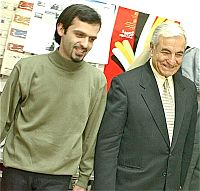 Roozbeh Mirebrahimi (left) and Abbas Amir-Entezam. / Credit: