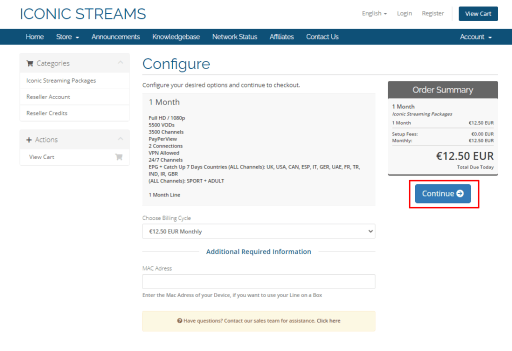 Configure - Iconic Streams