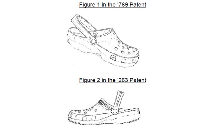 Clog patent side profile