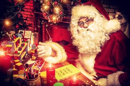Santa at his workshop