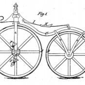 "From U.S. Patent No. 59915, simply titled ""Velocipede."""