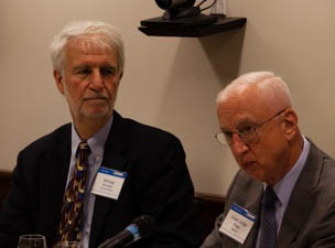 Mike Remington (left) with Judge Michel (right).